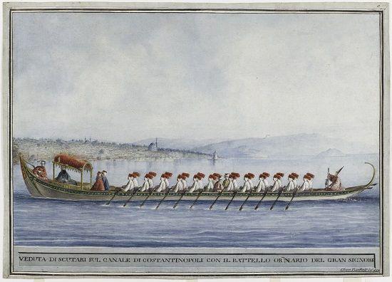 İstanbul Tablosu, Saltanat Kayığı Boğaz'ı geçerken.