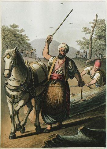 Osmanlı gravürü, Karamanlı oduncular