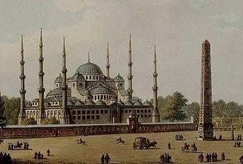 İstanbul gravürü - Sultanahmet Camii