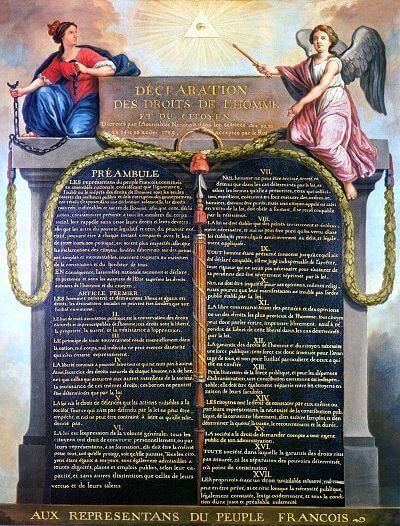 Fransız İhtilalinin sonuçları - İnsan ve Yurttaşlık Hakları Bildirgesi