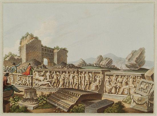 Efes antik kentinin kalıntıları