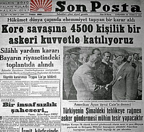 Kore Savaşı ve Türkiye