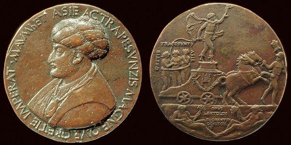 Bertoldo di Giovanni tarafından yapılan Fatih madalyonu