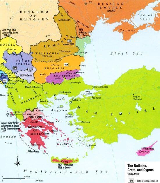19. yüzyılda Osmanlı Devletinden bağımsızlığını kazanan Balkan devletleri