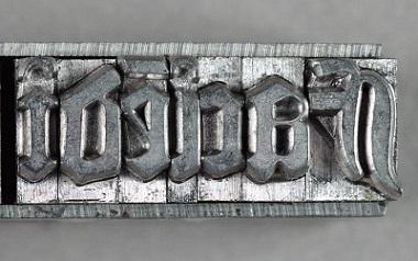Gutenberg, harf kalıbı