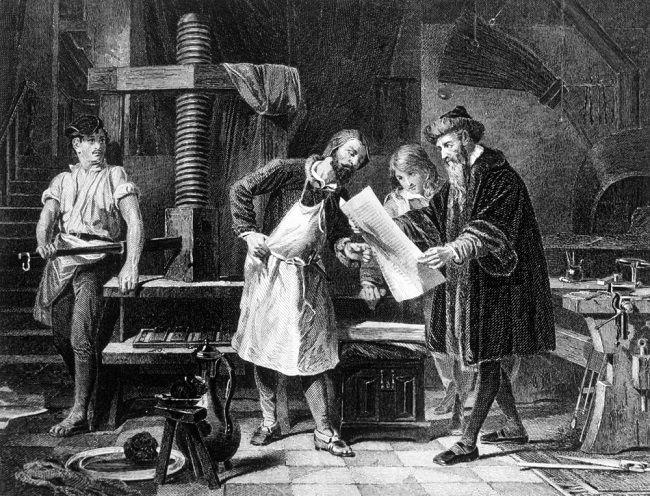 Johannes Gutenberg, matbaa
